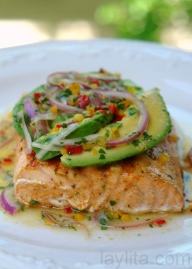 Avocado Lime Salmon. Lunch {maybe?} or Dinner.