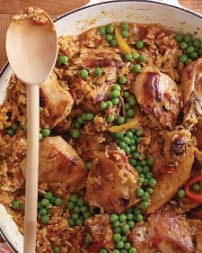 Chicken and Brown Rice. Lunch or Dinner. This is a one-pot meal by Marta Stewart so I know it'll be tasty.