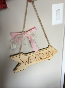 Sign for bestie's wedding